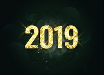 Luxury style 2019 new year sparkles background