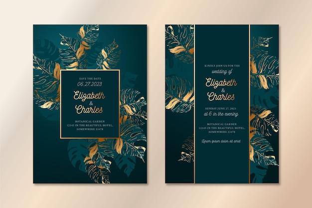 Luxury style wedding invitation template