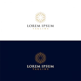 Luxury sun logo vector download