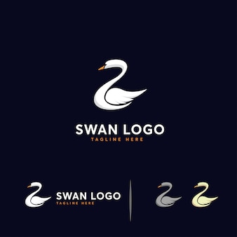 Luxury swan logo template