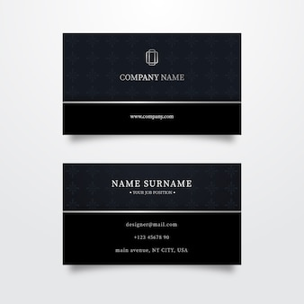 Luxury template business card