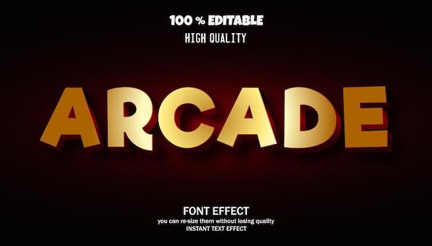 Luxury text effect editable font