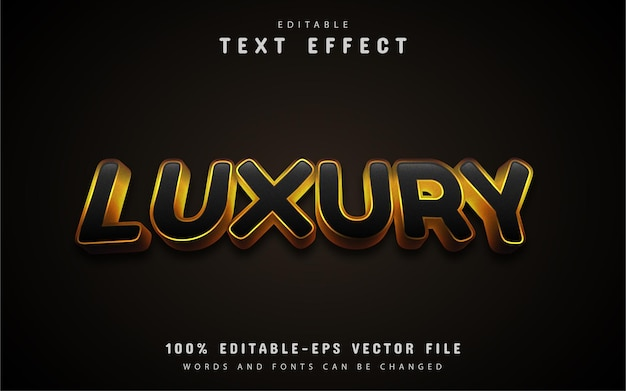 Luxury text, gold style text effect
