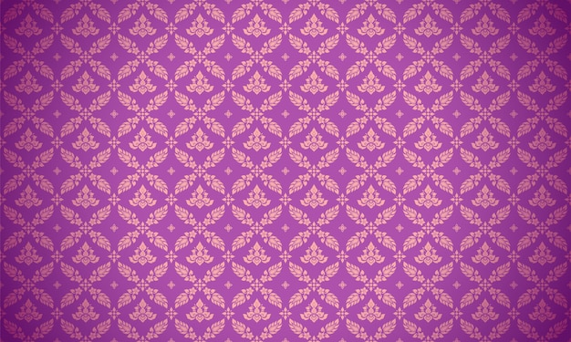 Luxury thai pattern purple background