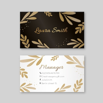 Luxury theme for business card template