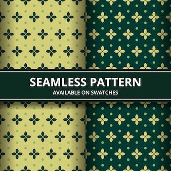 고전적인 스타일의 고급 전통 인도네시아 바틱 원활한 패턴 배경 벽지. 파란색으로 설정