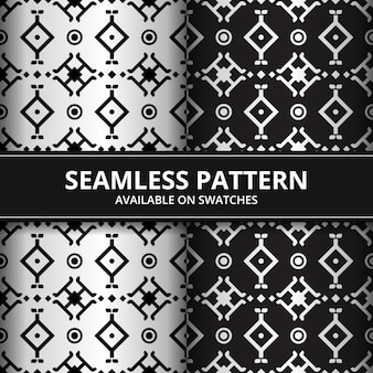 Luxury traditional tribal batik seamless pattern background wallpaper on color swatches