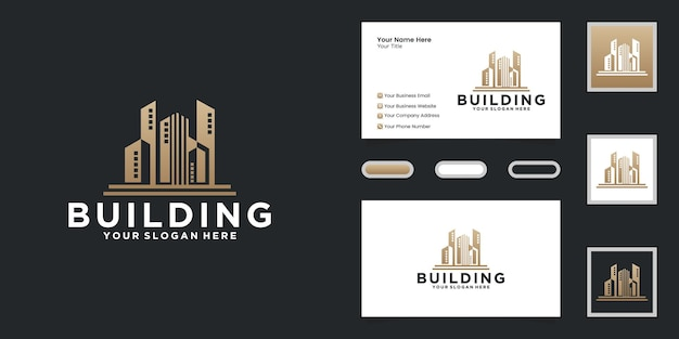 Luxury urban high-rise logo and business card inspiration