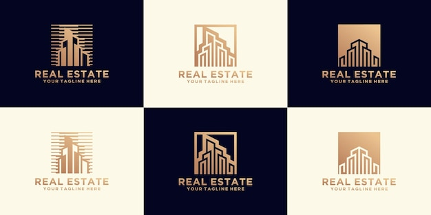 Luxury urban residence logo collection