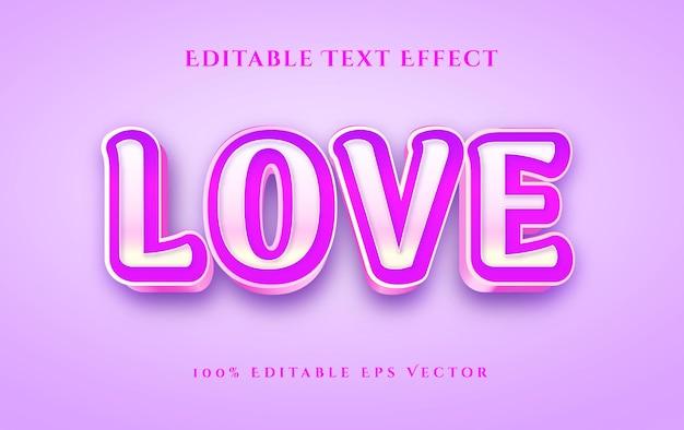 Роскошный валентина любовь золотой розовый 3d эффект стиля редактируемого текста