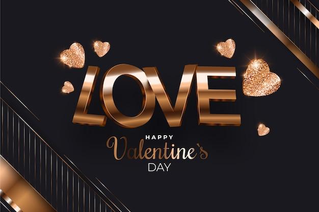 Luxury valentine's day background