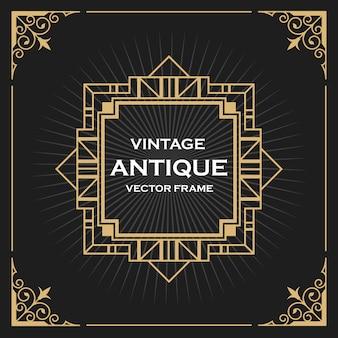 Luxury vintage artdeco frame