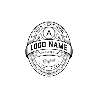 Luxury vintage badge logo template