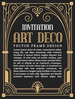 Art deco vectors photos and psd files free download luxury vintage frame art deco style toneelgroepblik Gallery