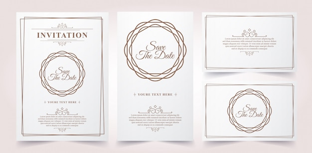 Luxury vintage invitation card