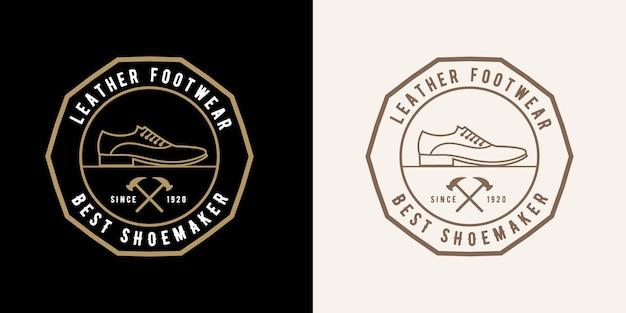 Роскошные винтажные кожаные этикетки для магазинов по ремонту обуви или логотип для бренда мужской женской обуви