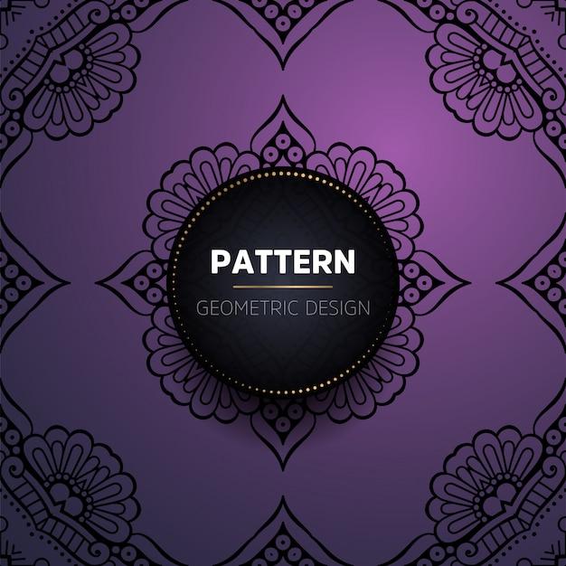 럭셔리 빈티지 만다라 원활한 패턴