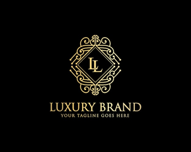 뷰티 헤어 스킨 케어 살롱 및 럭셔리 브랜드를 위한 럭셔리 빈티지 미니멀리즘 로고 디자인