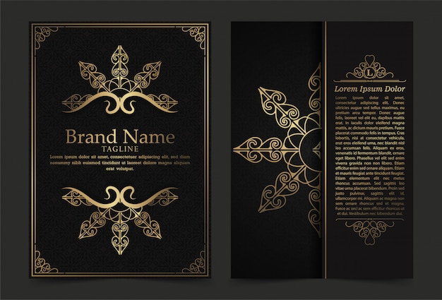Luxury vintage ornate covers in oriental style with mandala