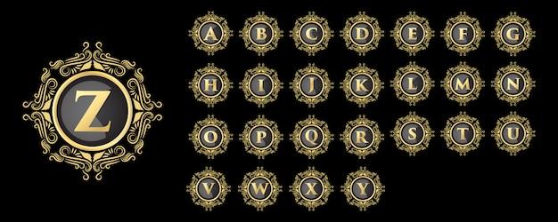 Роскошный винтажный королевский стиль золото женские цветочные начальные буквы дизайн логотипа набор шаблонов