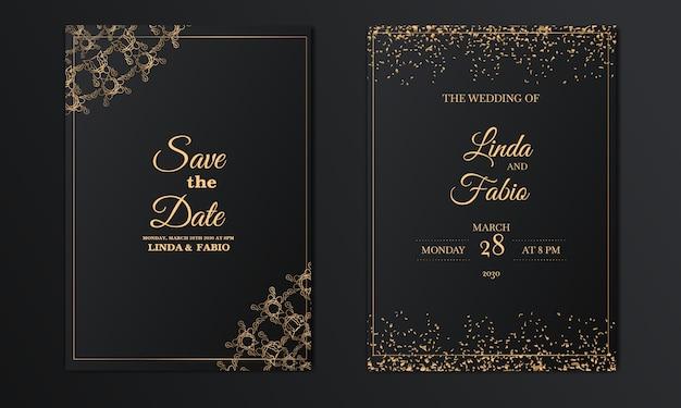 Luxury vintage wedding invitation cards