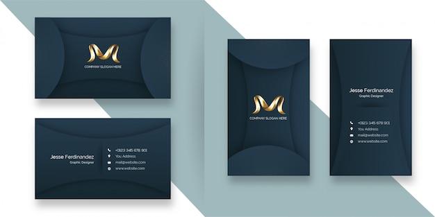 Luxury vip dark grey color business card template