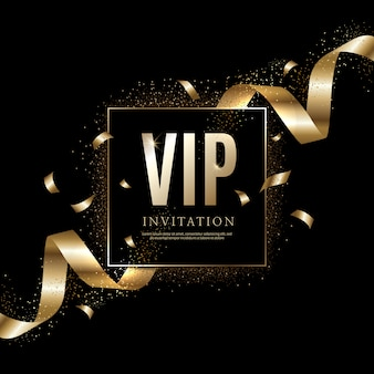 Luxury vip invitation