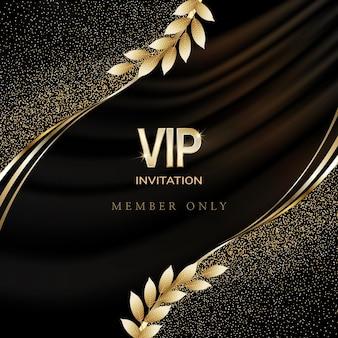 豪華なvipの招待状とクーポンの背景。