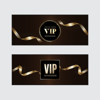 Роскошные vip-приглашения и фоны с купонами