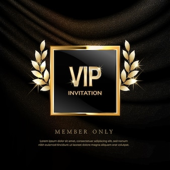 Luxury vip invitations and coupon background.