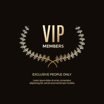 Luxury vip labels and objects