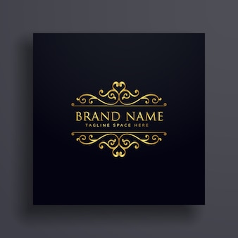 Luxury Vip Logo Concept Design For Your Brand With Floral Decoration