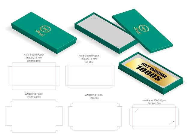 다이 라인 럭셔리 바우처 엄밀한 상자 3d 모형