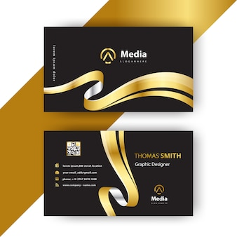 Luxury wavy business card
