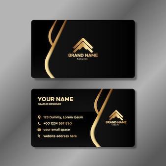 Luxury wavy business identity cards template