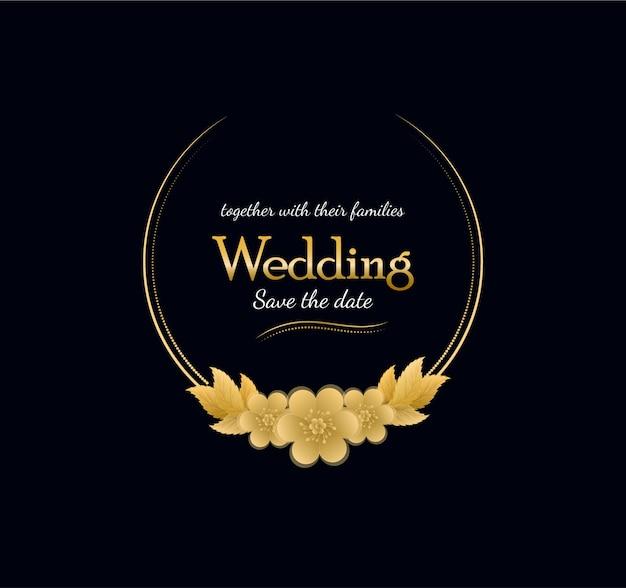 Luxury wedding badge with flowers