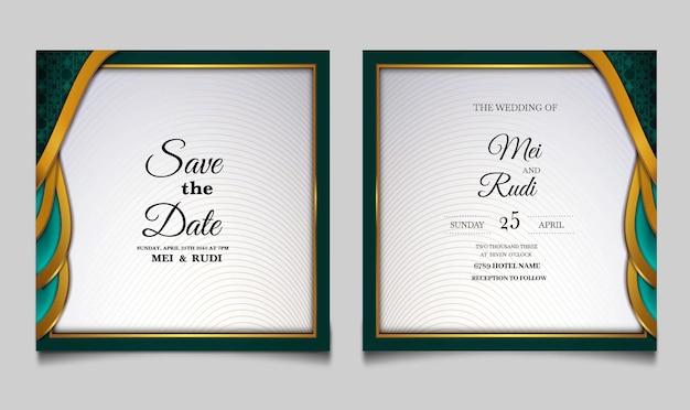 豪華な結婚式の招待カードセット