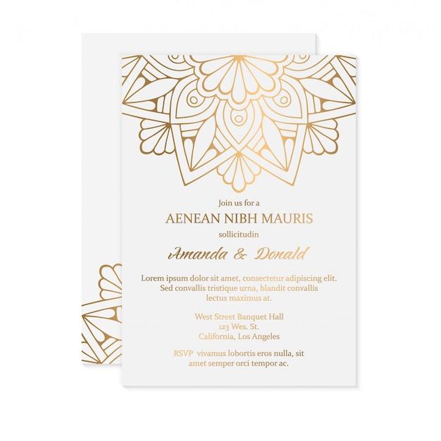 Шаблон свадебного приглашения класса люкс