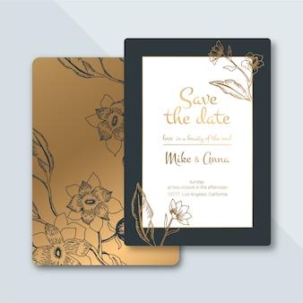 Роскошные свадебные приглашения шаблон концепции
