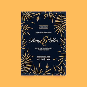 Luxurywedding invitation template theme