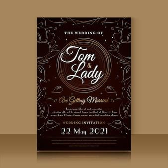 Luxurywedding invitation template