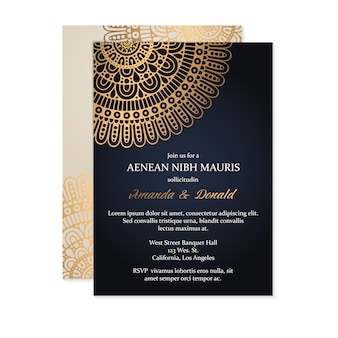 Luxury wedding invitation