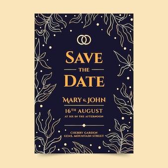Luxurywedding invitation