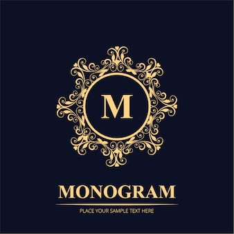 Luxury wedding monogram logo