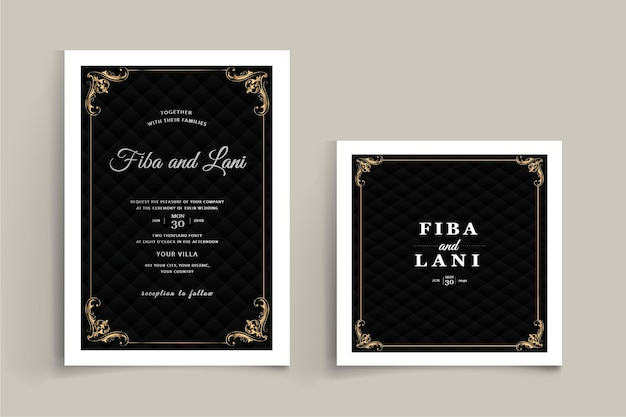 Luxury wedding stationery set