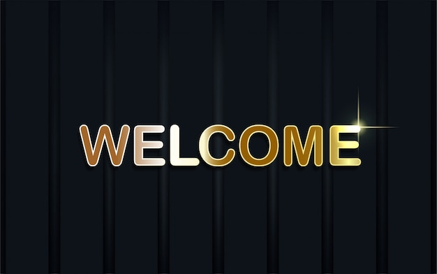Luxury welcome on dark blue background.