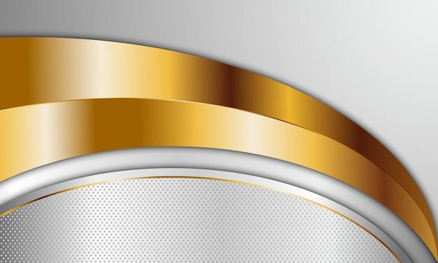 럭셔리 흰색과 황금 곡선된 줄무늬 배경입니다. 벡터 일러스트 레이 션. 비즈니스를 위한 고급스러운 디자인.