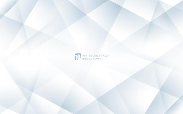 豪華な白とグレーが幾何学的な背景とコピースペースを重ねています。エレガントな白い三角形の背景。