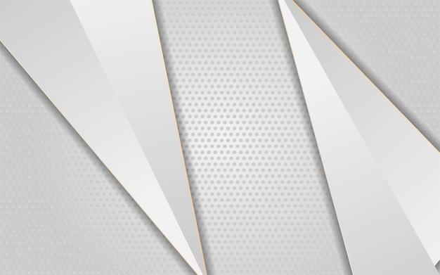 矢印の白い線の金と豪華な白い背景