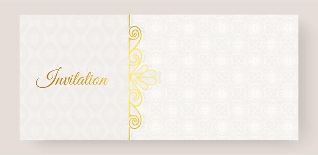 Роскошный белый орнамент в стиле приглашения